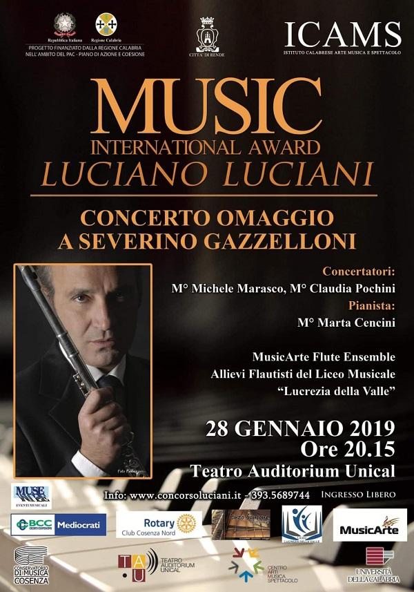 Concerto/Evento dedicato al grande flautista Severino Gazzelloni