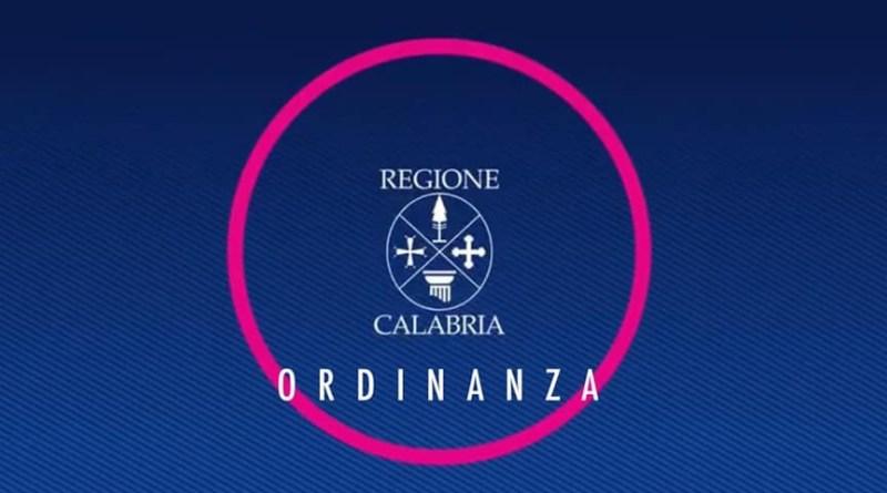COVID-19. Ordinanza della Regione Calabria