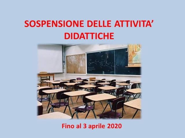 Decreto del Dirigente Scolastico di sospensione delle attività didattiche fino al 3 aprile 2020 – DPCM 9 MARZO 2020