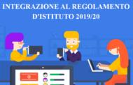 Regole di comportamento durante le lezioni a distanza  - Integrazione al Regolamento di Istituto A.S. 2019/2020