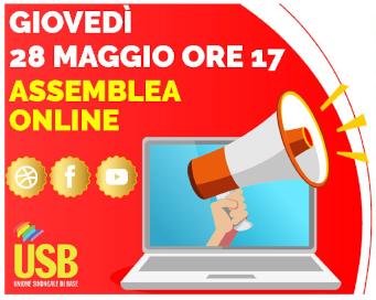 Sindacato USB - Comunicazione_assemblea_streaming_28_maggio