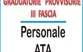 Graduatorie provvisorie ATA - Triennio 2021/23
